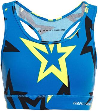 Perfect Moment Starlight Printed Stretch-jersey Sports Bra