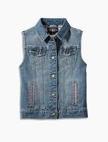 Lucky Brand Denim Vest W/ Embroidery