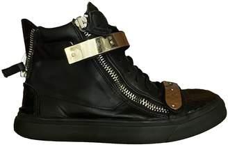 Giuseppe Zanotti Donna Black Leather Trainers