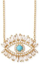 Suzanne Kalan Turquoise & Diamond Halo Pendant Necklace