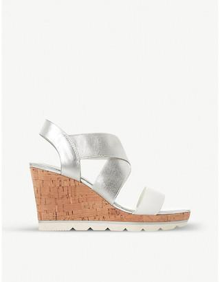 Dune Kos metallic wedge sandals