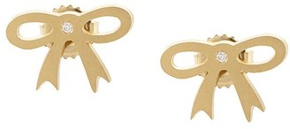 Irene Neuwirth 18kt Yellow Gold Bow Stud Earrings