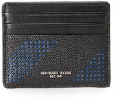 Michael Kors Harrison Perforated Leather Tall Card Case