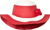 MonnaLisa Red and White Wide Brim Sun Hat