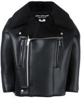 Junya Watanabe Comme Des Garçons artificial leather biker jacket