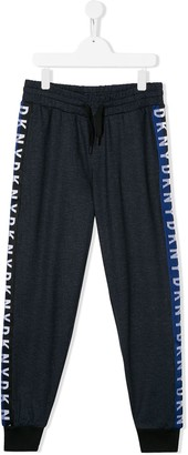 DKNY TEEN logo-embroidered track trousers