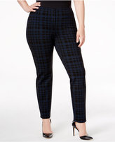 Alfani Plus Size Printed Hollywood Skinny Pants, Only at Macy's