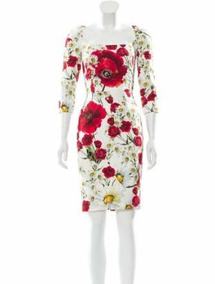 Dolce & Gabbana Floral Print Mini Dress multicolor