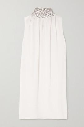 Prada Bead-embellished Cady Mini Dress - Ivory