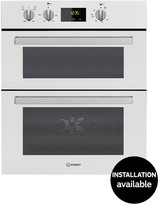 Indesit Aria IDU6340WH Built-under Double Electric Oven - White