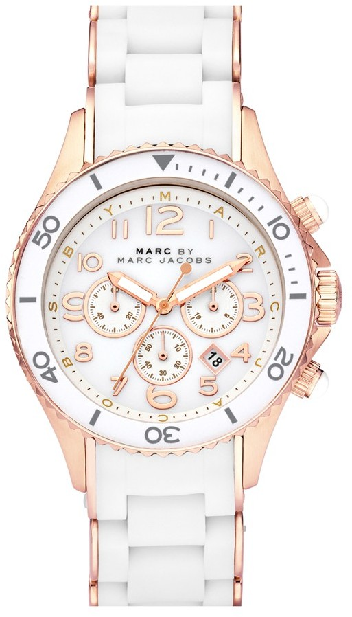 Marc by Marc Jacobs 'Rock' Chronograph Silicone Bracelet Watch