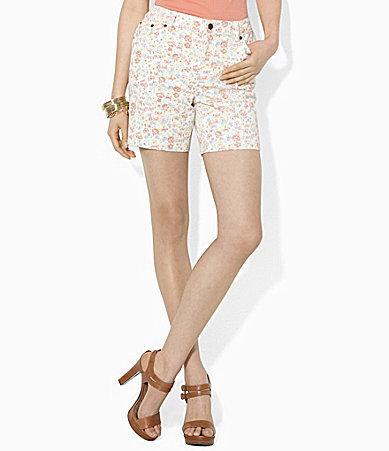 Lauren Ralph Lauren Floral Denim Shorts