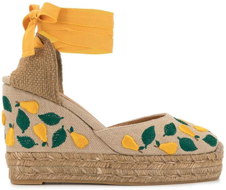 eec0b078869 Carina embroidered wedges