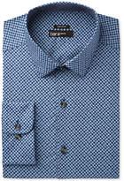 Bar III Men's Slim-Fit Stretch Navy Diamond Flower Print Dress Shirt, Only at Macy's