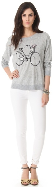 Joie Bicycle Intarsia Sweater