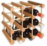 J.K. Adams 12-bottle Wine Rack, Natural Wood