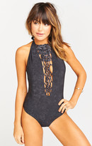 MUMU Paradise Macrame One Piece ~ Black