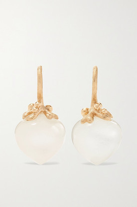 OLE LYNGGAARD COPENHAGEN Dew Drops 18-karat Gold Moonstone Earrings