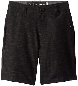 Rip Curl Kids Mirage Jackson Boardwalk Shorts (Big Kids) (Black) Boy's Shorts