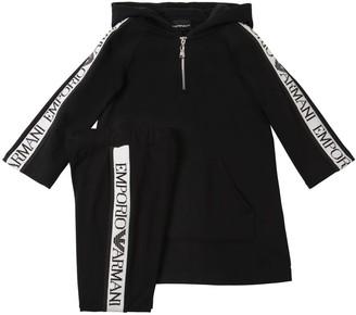 Emporio Armani Cotton Sweatshirt Dress & Leggings
