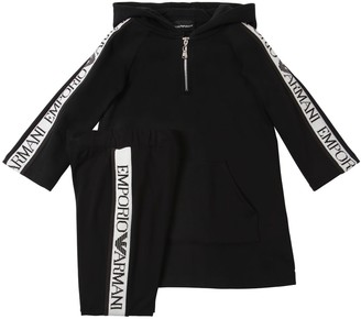 Emporio Armani COTTON SWEATSHIRT DRESS & LEGGINGS