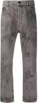 John Elliott straight leg bleached effect jeans