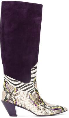 A.F.Vandevorst panelled knee-high boots