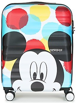 American Tourister MICKEY CLOSE UP 55CM 4R women's Hard Suitcase in Multicolour