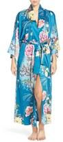 Natori 'Serene' Print Charmeuse Robe