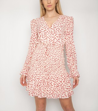 New Look Gini London Heart Print Tiered Dress