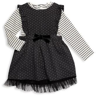 Jessica Simpson Baby Girl's 2-Piece Cotton-Blend Dress Bodysuit Set