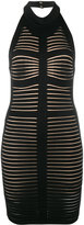 Balmain sleeveless backless bodycon dress