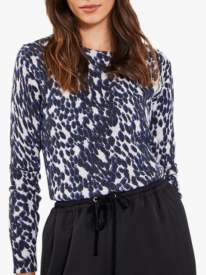 Mint Velvet Leopard Knit, Multi