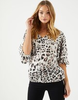 Star by Julien Macdonald Star By Julien Mcdonald Double Layered Sleeve Top