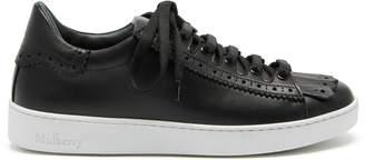 Mulberry Jump Fringe Sneaker Black Smooth Calf