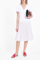 Sara Battaglia Pleated Skirt Dress
