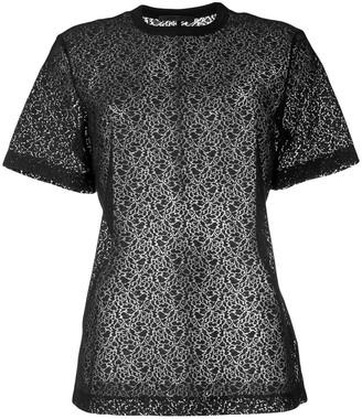 Helmut Lang micro-pattern T-shirt