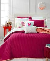 Martha Stewart Whim By Collection Quilted Turnabout Lipstick Pink Standard Sham