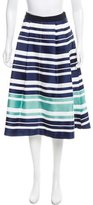 Maiyet Striped A-Line Skirt