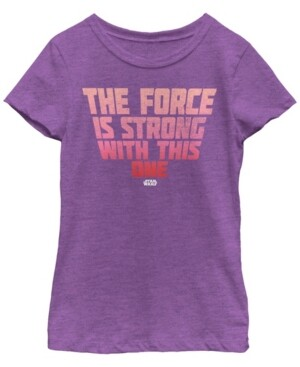Fifth Sun Star Wars Big Girl's The Force Stacked Quote Short Sleeve T-Shirt
