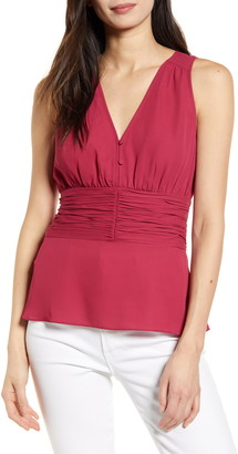 Chelsea28 Sleeveless Ruched Top