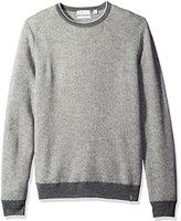 Calvin Klein Men's Merino Tricolor Herringbone Sweater