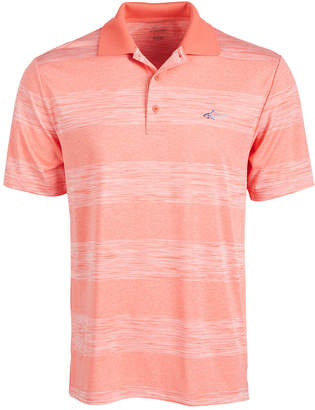 Greg Norman Attack Life by Men Heather Stripe Polo