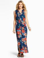 Talbots Tropical Flowers Maxi Dress