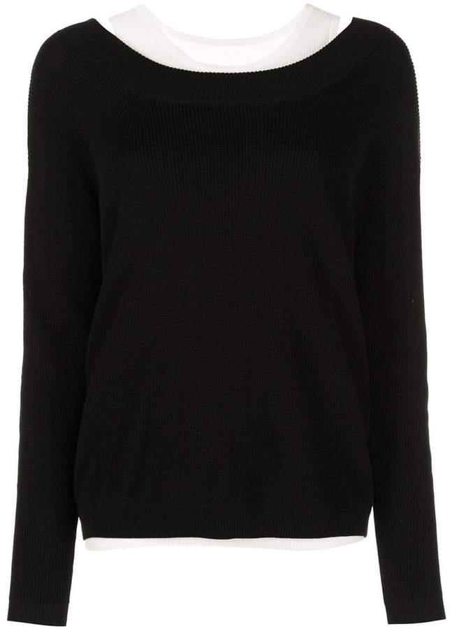 v-neck layered jumper