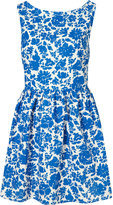 Topshop China Floral Lattice Back Dress