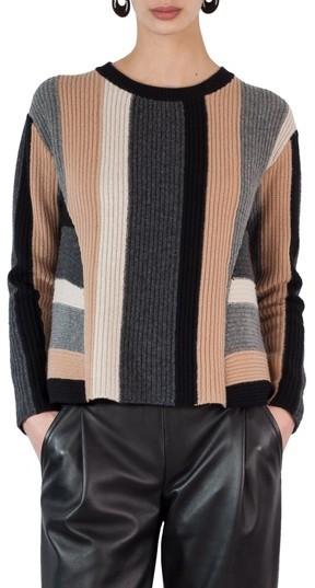 Akris Punto Women's Multicolor Stripe Wool & Cashmere Pullover