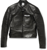 Vetements - Polizei Panelled Leather Racing Jacket