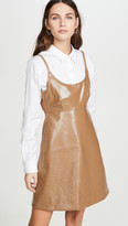 Ganni Patent Faux Leather Mini Dress