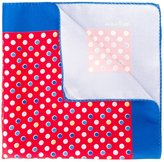 Kiton dot print pocket square